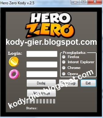 hero zero kody