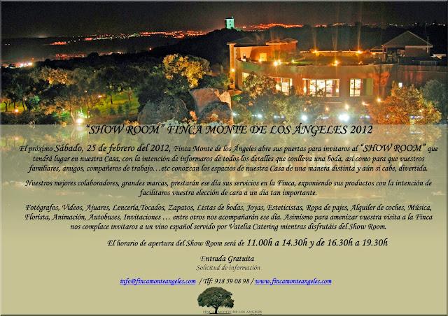 Showroom exclusivo para las que estén organizando SU BODA este año.- Este fin de semana en Madrid.- Lencería, Tocados, Zapatos, Lists de Boda, Ajuares, Fotógrafos, Videos, Ropa de pajes, música, alquiler de coches, animación, invitaciones y autobuses, etc