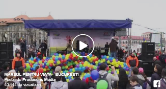 VIDEO: 10000 de participanți la Marșul pentru viață din București