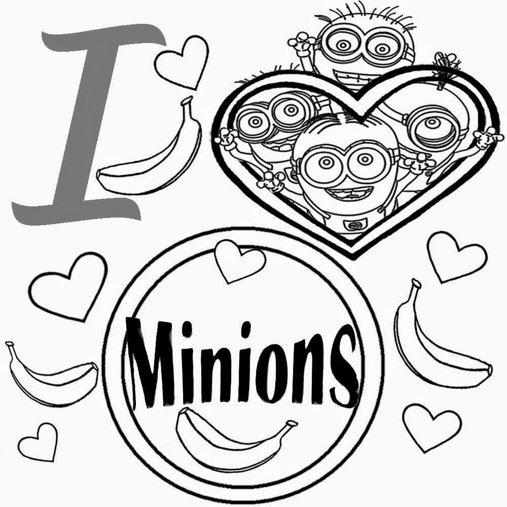 Coloring games online minion - Cute Heart Simple Playgroup Activities Free Kids Coloring Pages I Love Minion Pictures To Colour In