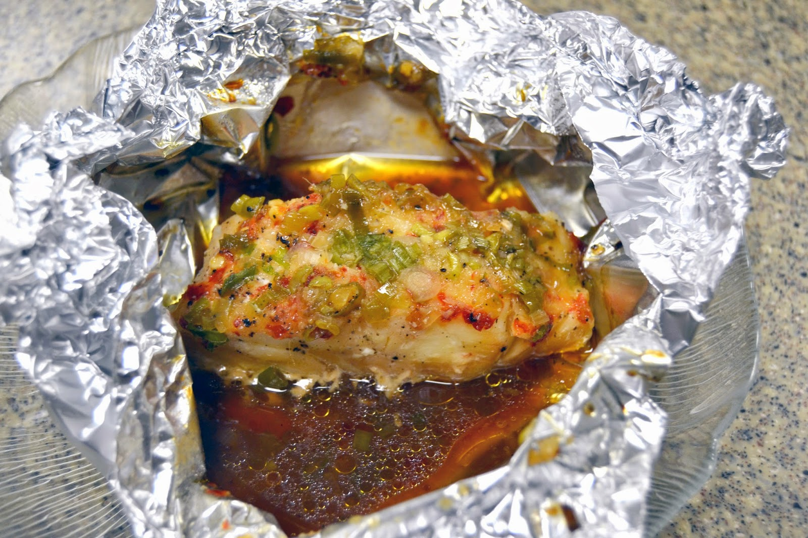 Jungle jim 39 s food for thought spicy sea bass packets for Cooking fish in foil
