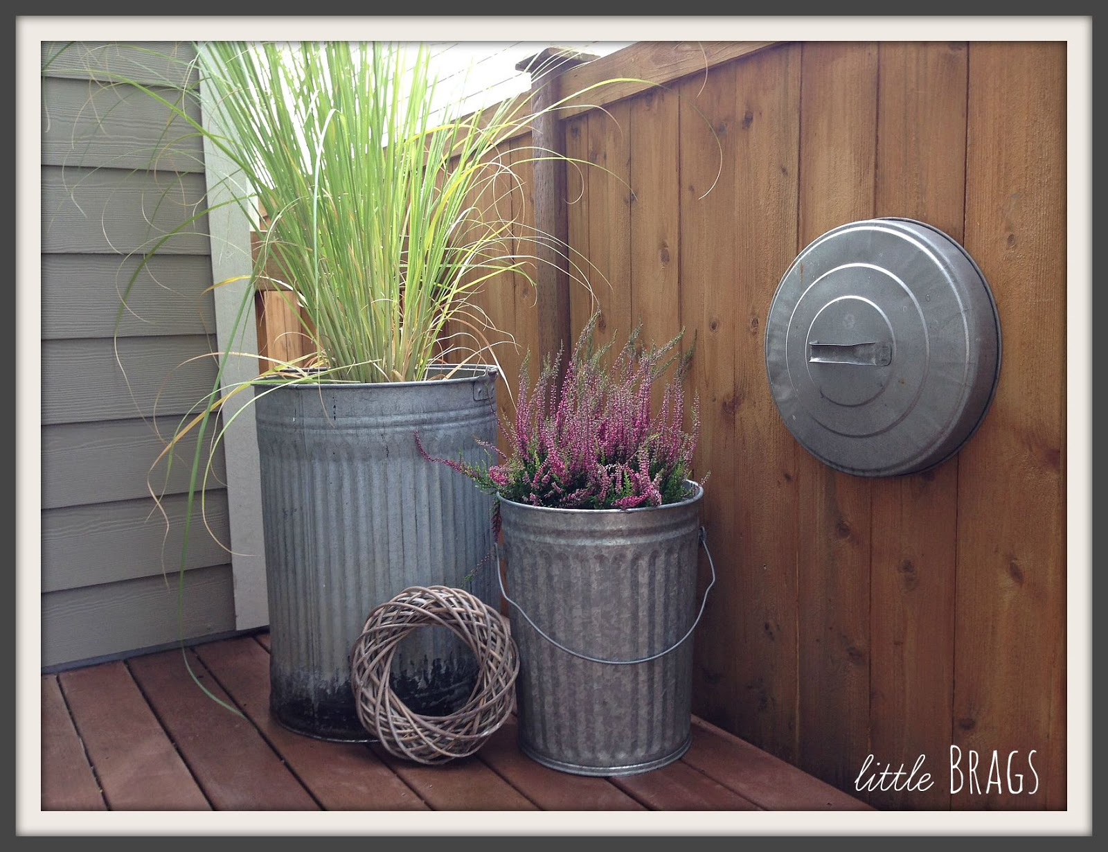 Little Brags Trash Can Planters