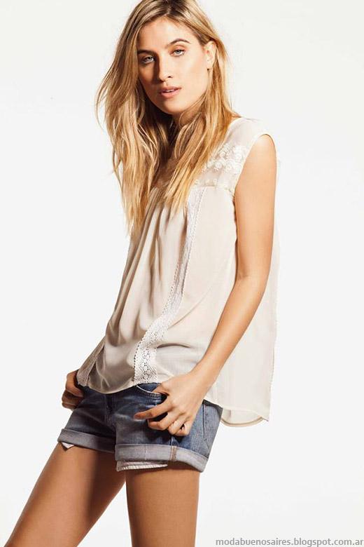 Blusas de moda verano 2015 Pura Pampa.