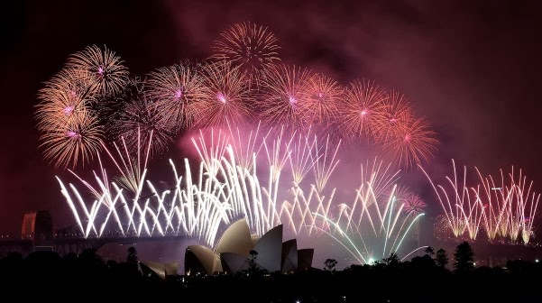 new year 2014 celebration in sydney, australia
