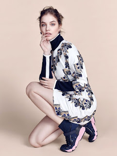 Model Barbara Palvin does fashion photo spread for Korea's Harper's Bazaar.