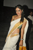 Actress Nivitha Glamorous photos in Saree-thumbnail-19