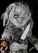 Chucky o brinquedo assassino à grafite. Chucky o brinquedo assassino,Grafite .