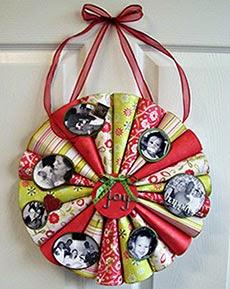 Artesanato - guirlanda de papel para o Natal