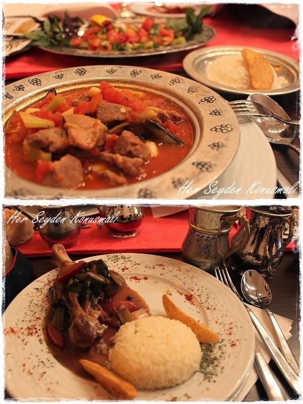 Bağdadi Restaurant'ta yemek sunumu