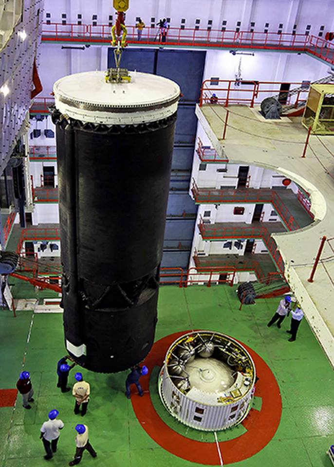 Cryogenic Upper Stage being integrated