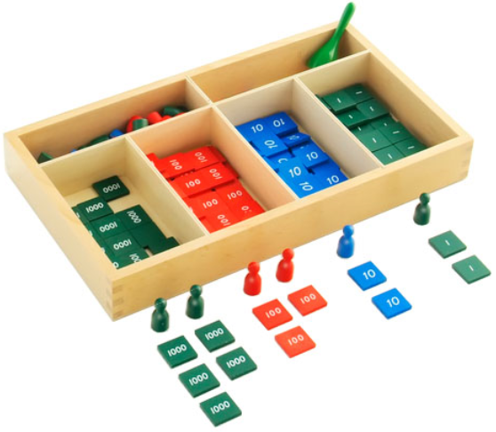 Montessori Activity Introduction To The Stamp Game