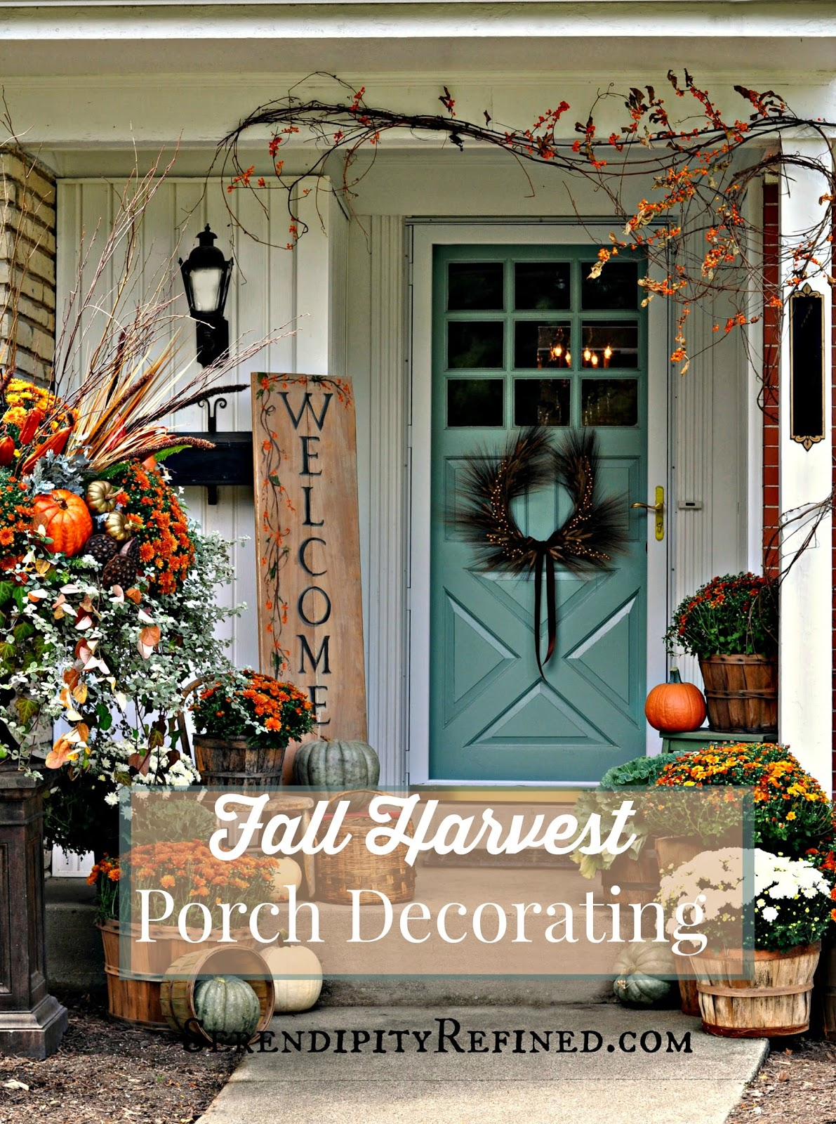 In The Middle Of Renovation Im Still Decorating For Fall Fact All Is Full Swing Here At Farmhouse Porch Dressed With