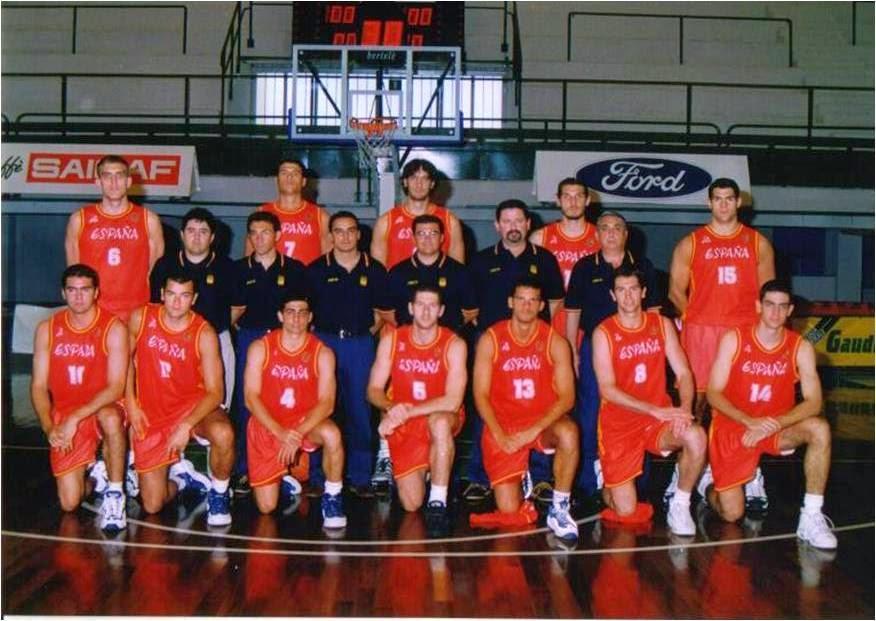 """ESPAÑA """"B"""" JUEGOS MEDITERRANEOS BARI. ITALIA 1997."""