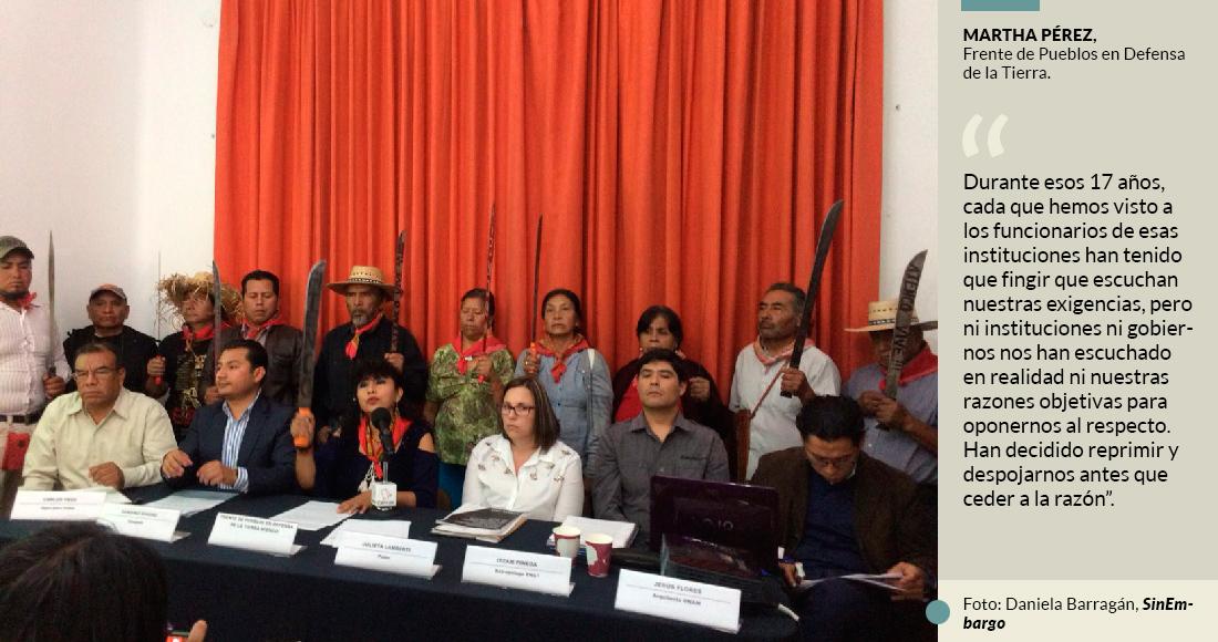 El Frente de Pueblos: Llevamos años contra el NAIM, y ningún candidato nos ha consultado