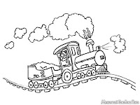 Mewarnai Gambar Kereta Pengangkut Batubara
