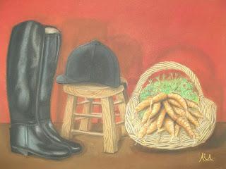 Μπότες και καπέλο ιππασίας, horse riding boots and hat