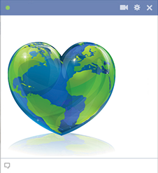 Heart planet Facebook icon