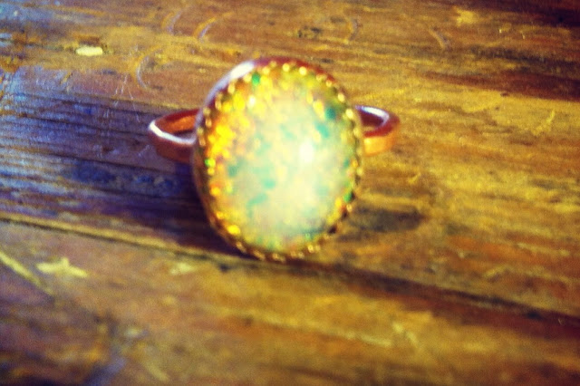 Ring made by Mikako at Harold Studio
