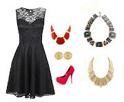 VESTIDO PRETO (vestido curto preto co maxicolar)