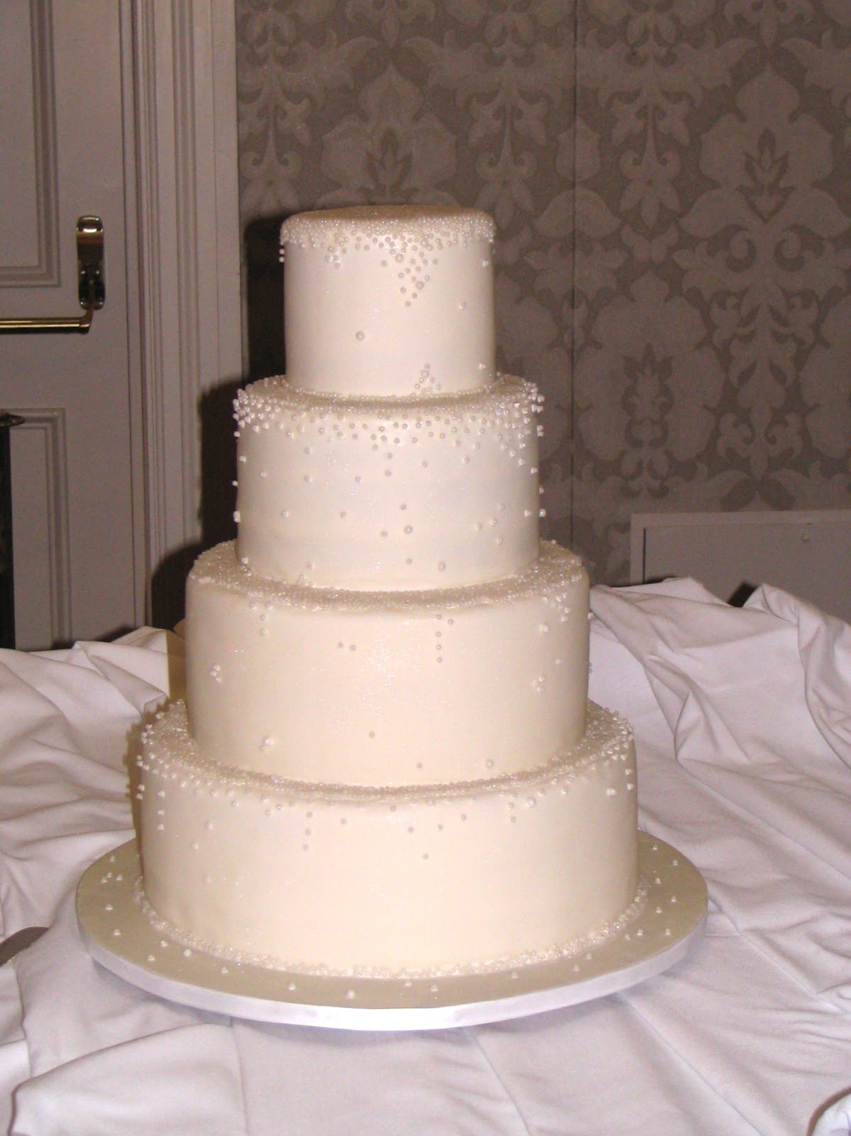 My Cakes Creations and More Ivory Pearl Wedding Cake