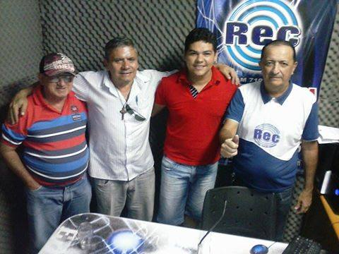 EQUIPE DA RADIO EDUCADORA DE CONCEIÇÃO GEORGE LUIS  E O JORNAL DA MANHA