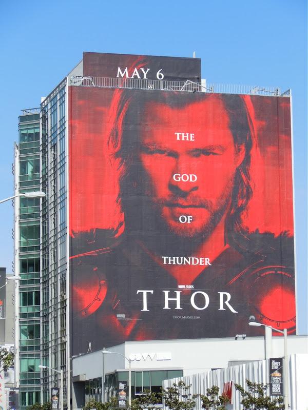 Thor movie billboard