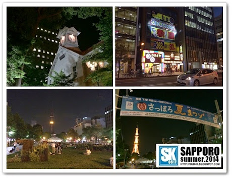 Sapporo Japan - The Central Area at night