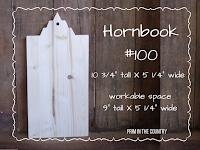 """Hornbook #100 (10 3/4"""" X 5 1/4"""") $10.99"""