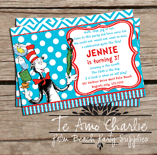 Printable Cat in the Hat Invitations