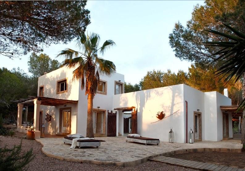 casa mediterránea en la isla de Formentera