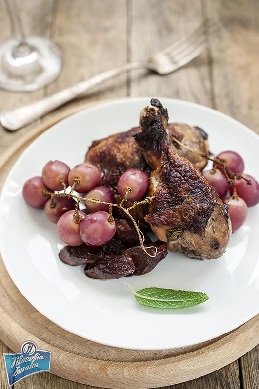 Kurczak pieczony w winie