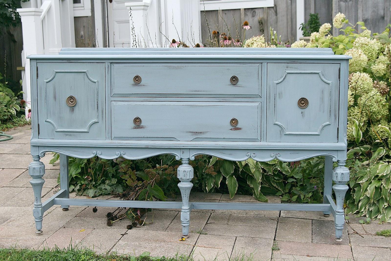 laurel 39 s attic sold antique grey buffet. Black Bedroom Furniture Sets. Home Design Ideas