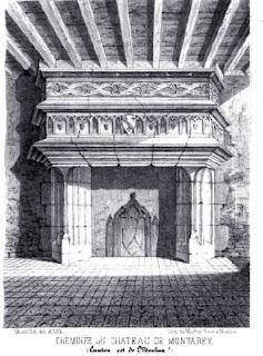 patrimoine de l'Allier, cheminée du château de Montaret