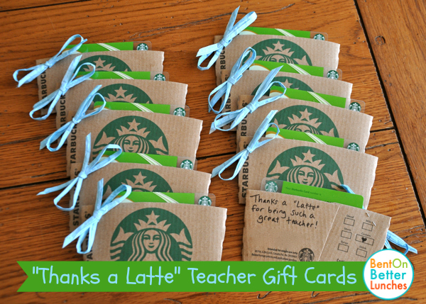 Thanks a Latte teacher gift cards