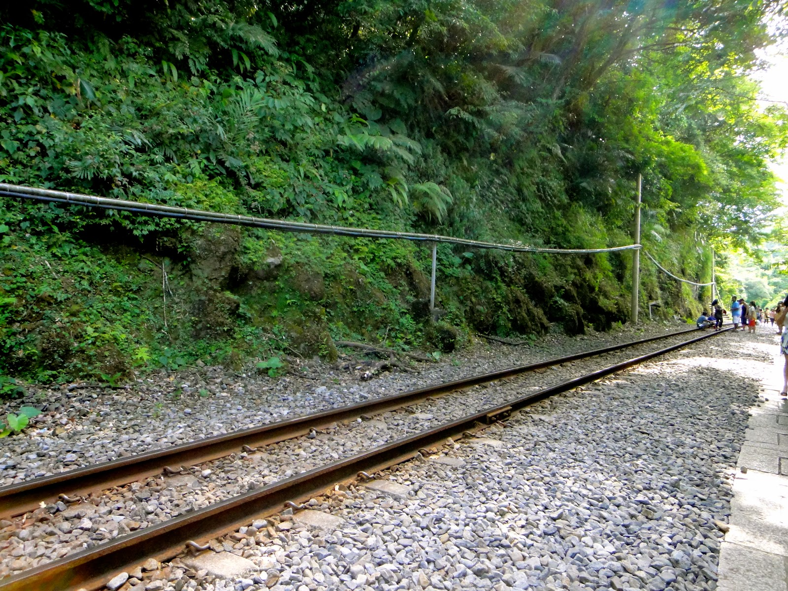 Shifen Railway Track Taiwan Travel