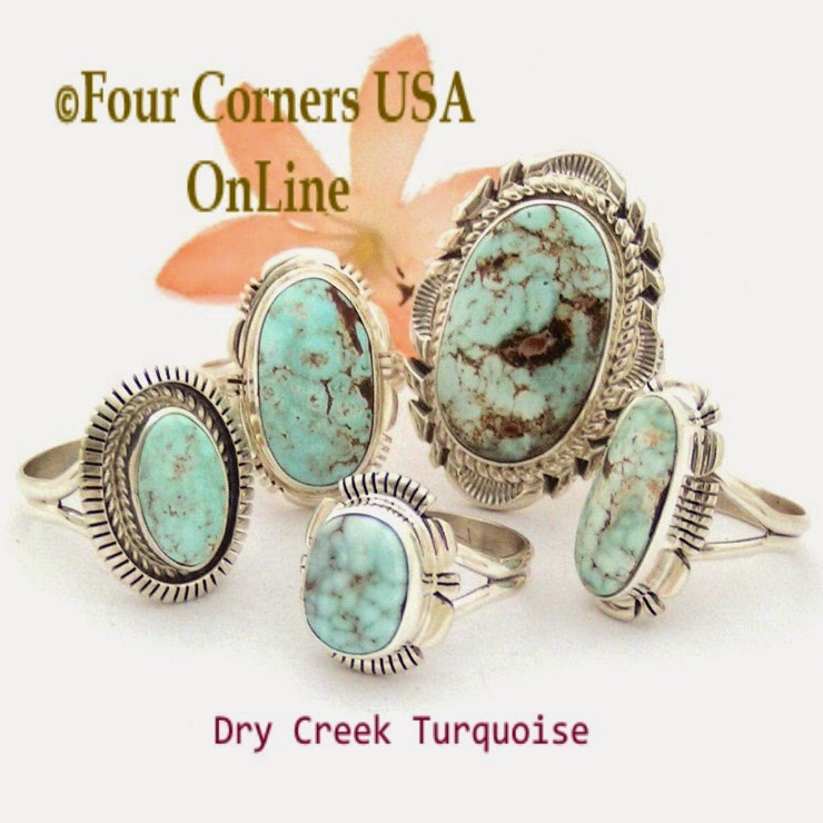 http://stores.fourcornersusaonline.com/dry-creek-turquoise-rings/