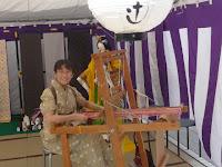 織機の実演ショー