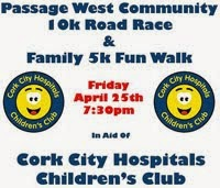 10k race & 5k walk in Passage West near Cork City