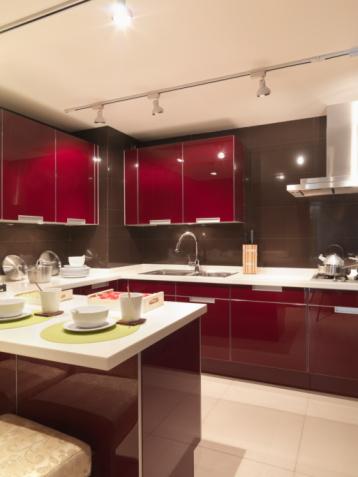 Cocinas en rojo cocinas modernass - Cocinas de color rojo ...