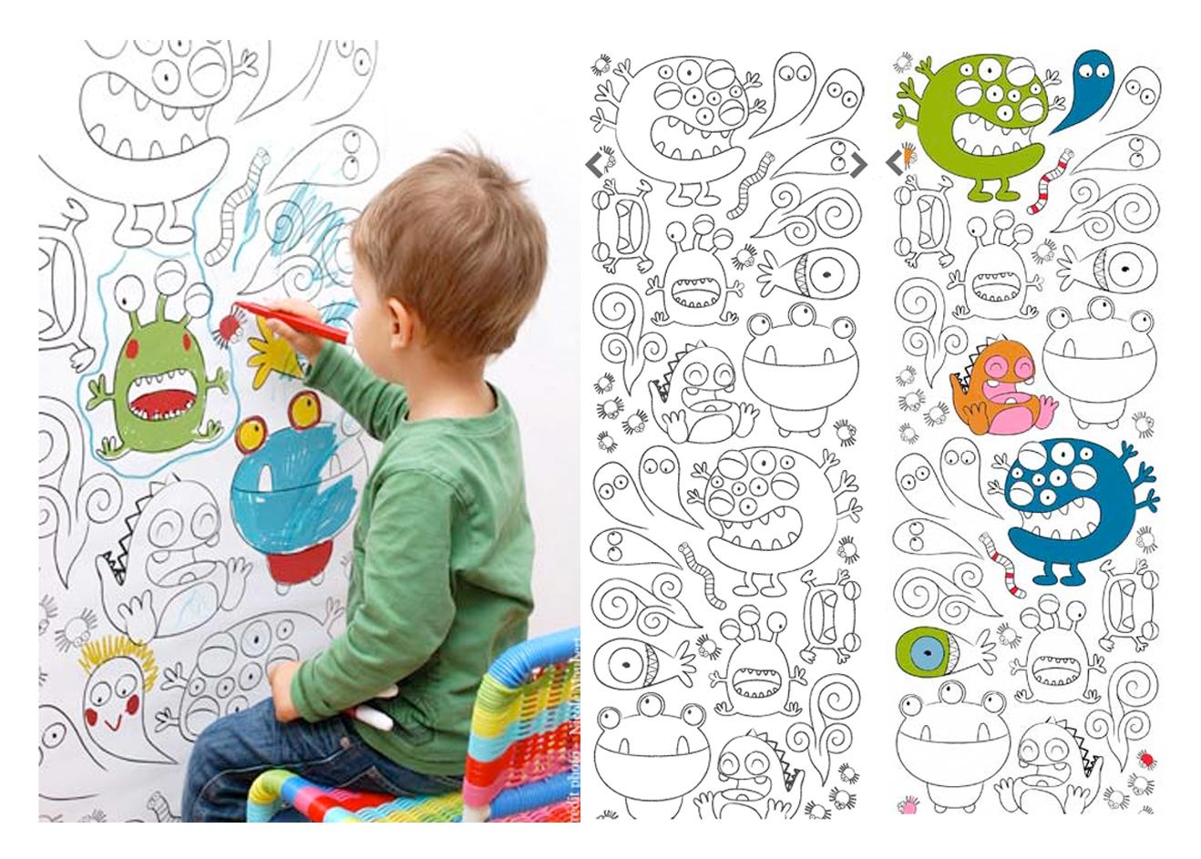 Papier peint chambre enfant crayons de couleur - Papier Peint Crayon De Couleur
