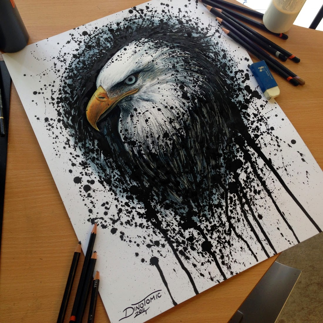 12-Eagle-Splatter-Dino-Tomic-AtomiccircuS-Mastering-Art-in-Eclectic-Drawings-www-designstack-co