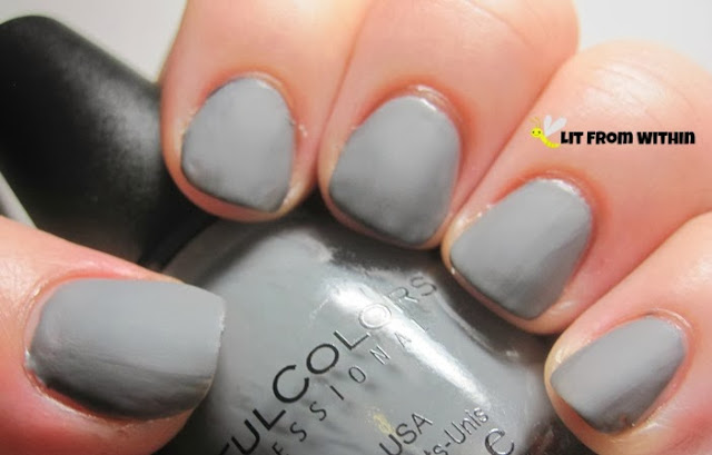 grey matte from Sinful Colors - My Turn