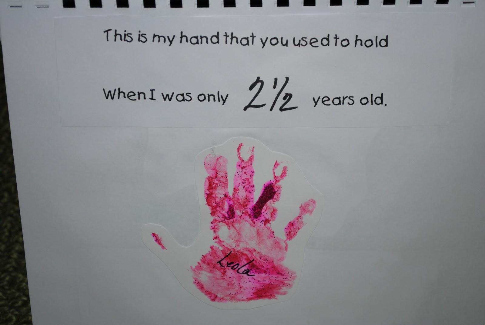 Prairie Mother Marker Monday Handprint Calendar Gift Idea