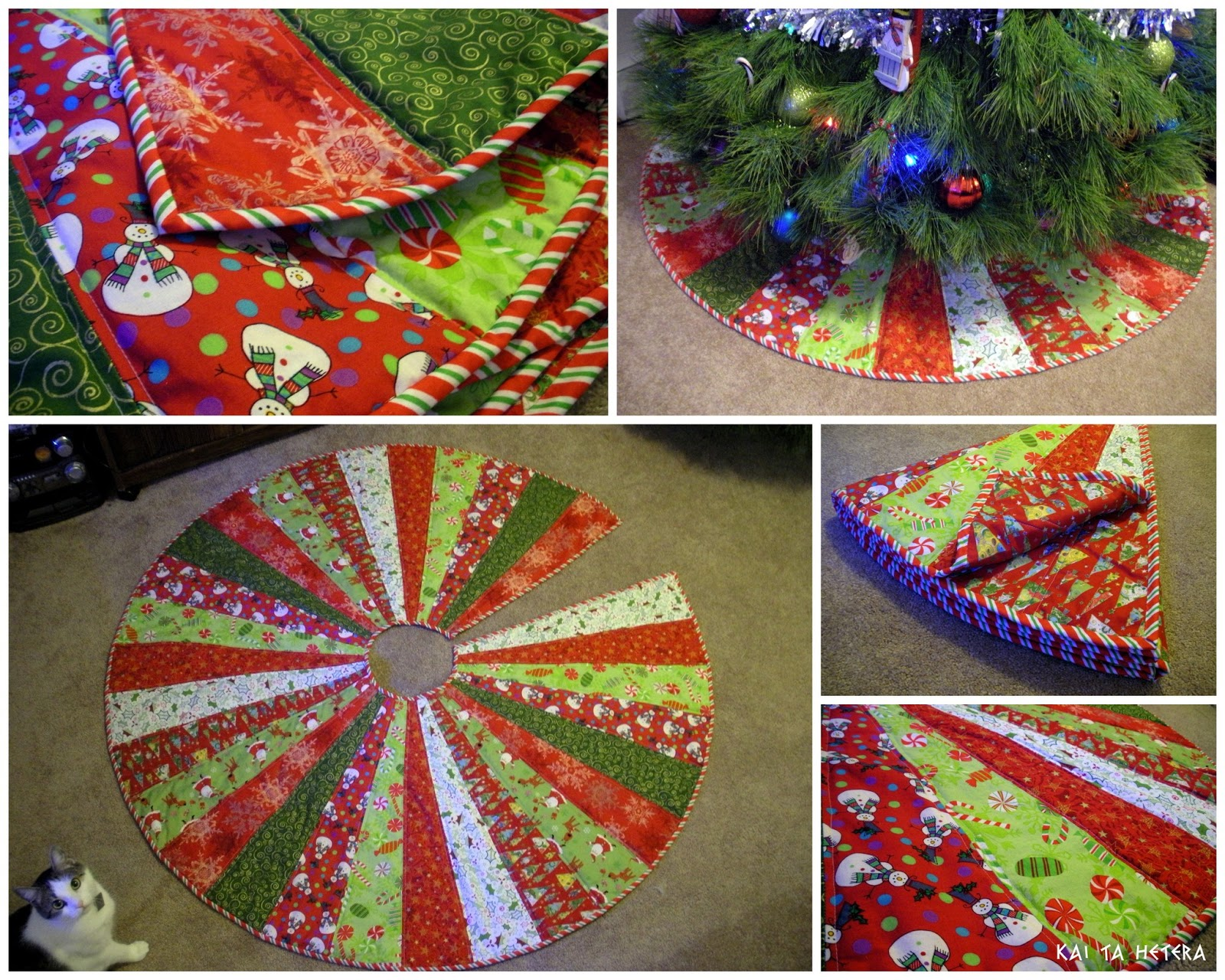 quilted christmas tree skirt tutorial by kelsey keefe at kai ta hetera - Quilted Christmas Tree Skirt Pattern