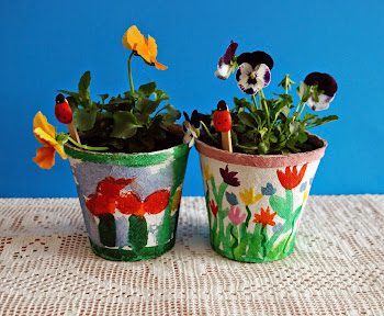 Painted Pots for Mother's Day