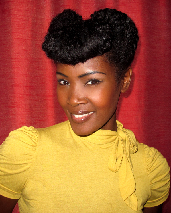 Vintage Natural Updo | Black Women Natural Hairstyles