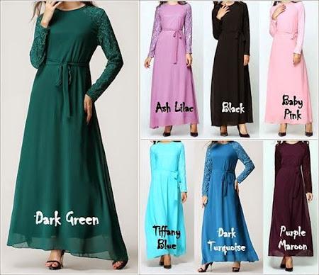 Alvina Dress Dengan 3 Size Berbeza S, M, L & XL. Jom Dapatkannya Sekarang.