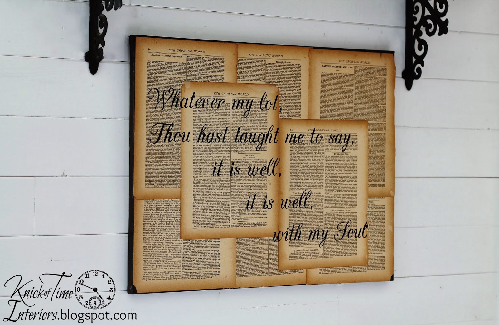 Book Jacket Wall Art : Repurposed book page canvas hymn art knick of time