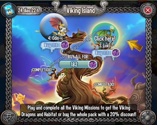 imagen de la tercera parte de la isla vikingo de dragon city