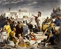 Pericles hablando en la plaza